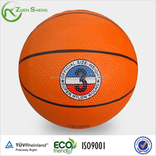 Size6 rubber basketball with rubber bladder suit for playing and school training
