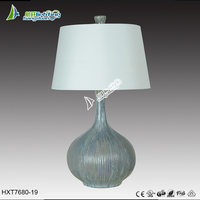 Newest green hotel table lamp glass desk light with lampshade HXT7680-19