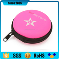pink pu cover waterproof eva earphone hard case