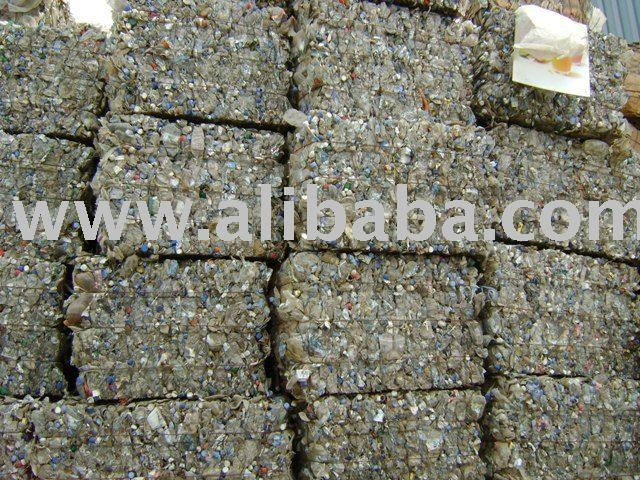 pet flakes and pet bottle baled