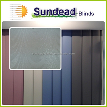 faux pvc vertical window blinds ideal solution for wide windows and patio doors , office curtain and blinds