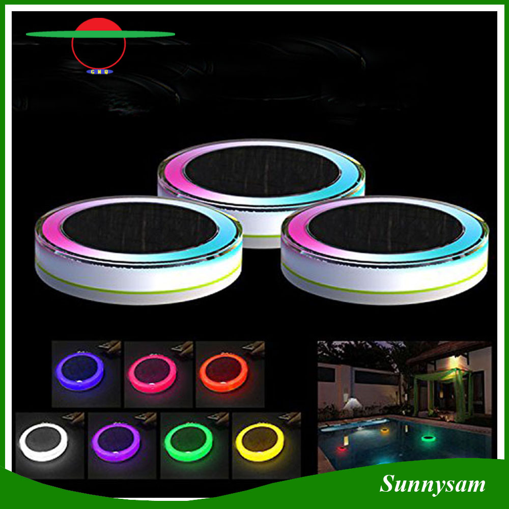 Solar Powered Decorartion Garden Light RGB Color and Remote Control IP68 Waterproof Solar Floating Pool Light