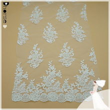 Dhorse DH-BF544 Low price wholesale beaed french flower embroidery lace fabric for curtain