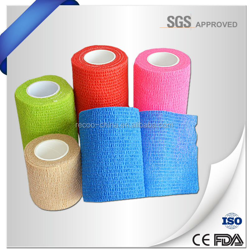 Self Adhesive Horse Wrap Custom Printed Strong Fabric Elastic Medical Cotton Bandage