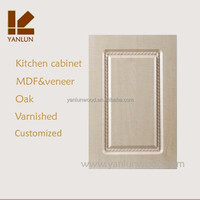 natural solid ash wood with hinge shaker design outdoor kitchen