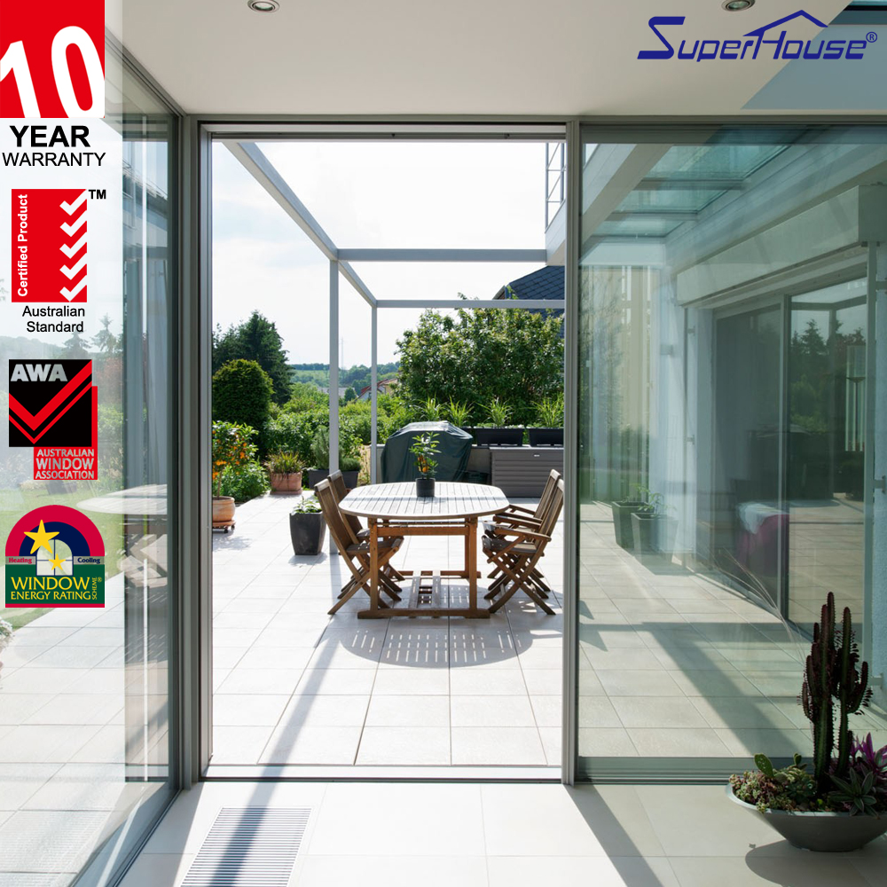 AS2047 top rated sliding glass doors living room partition design made in China