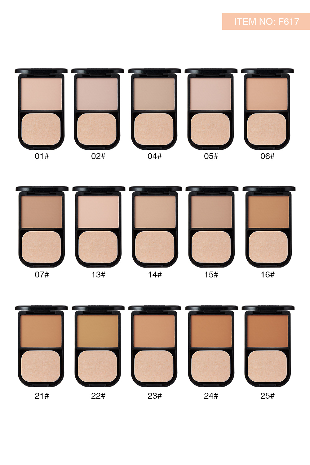 Menow F617 Face Makeup Silky Pressed Powder Foundation