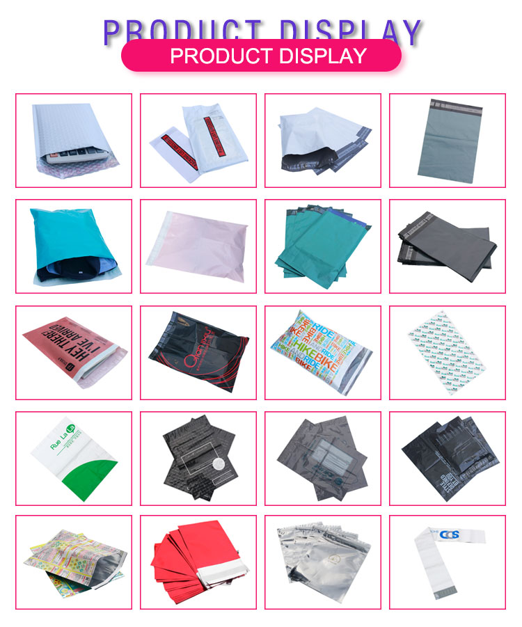 gift packing custom printed poly mailer bags,light poly mailer 2 mil shipping mailing packaging