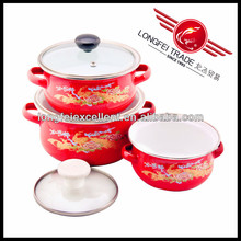 2014 new desian red color enamelware & kitchenware