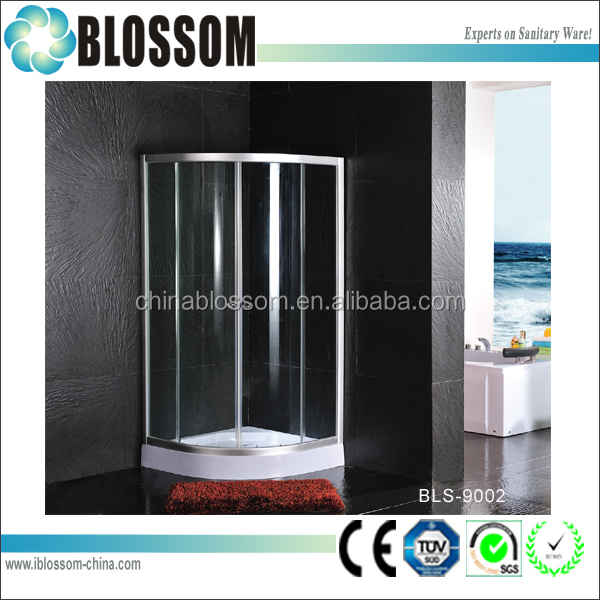 Best selling enclosed shower room frosted glass shower cubicles