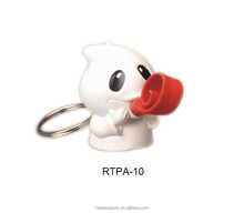 3D custom pvc keychain rubber keychain for Halloween gift