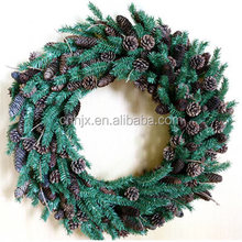 Green Artificial Christmas Wreath With Pinecone And Pine Needle