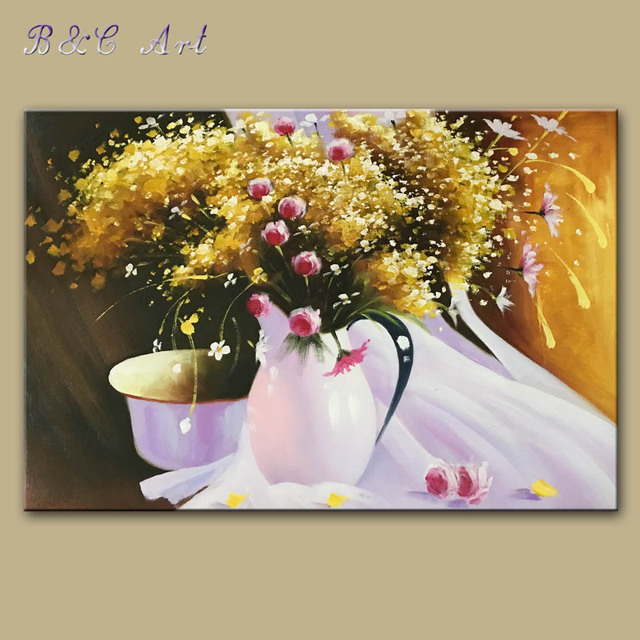 Vibrant Painting Flower Painting Wall Pictures for Living Room