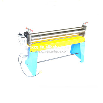 W11 2*1000MM 3 roller manual sheet plate metal bending rolling machine