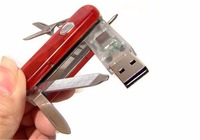 novelty gift item red metal knife military usb flash drive