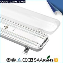 Led Tube Lighting Fixture Indoor T8 CE, EMC 3ft 4ft 5ft IP65 waterproof led fitting fluorescent double fitting 2x20W