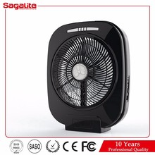 Sagalite Black Rechargeable Electric Fan Light Type