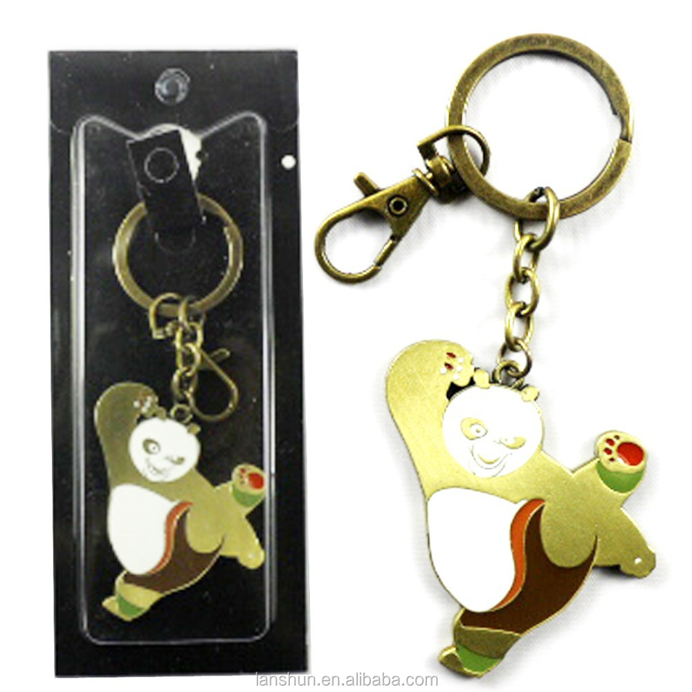 Movie Kung Fu Panda Logo Pendant Keychain Ring Cupreous Free Shipping
