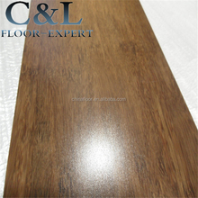 UV lacquer prefinished smooth walnut color strand woven bamboo flooring