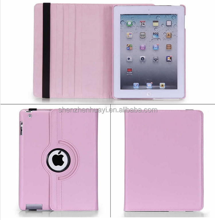 waterproof ipad2 case 360 Rotating Leather Stand Screen Protector+Stylus Cover for Mini 1 2 3 / Air 2