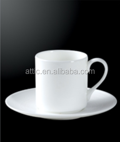 Plain White Coffee Cup and Saucer,Custom Espresso Cup and Saucer