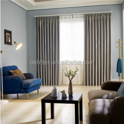 Luxury Living room Embossed Blackout Curtain