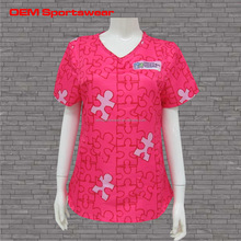 Modern type hospital scrub uniform top and pants