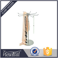 Retail store clothing equipment decorative Stainless scarf and hat display stand for garment show