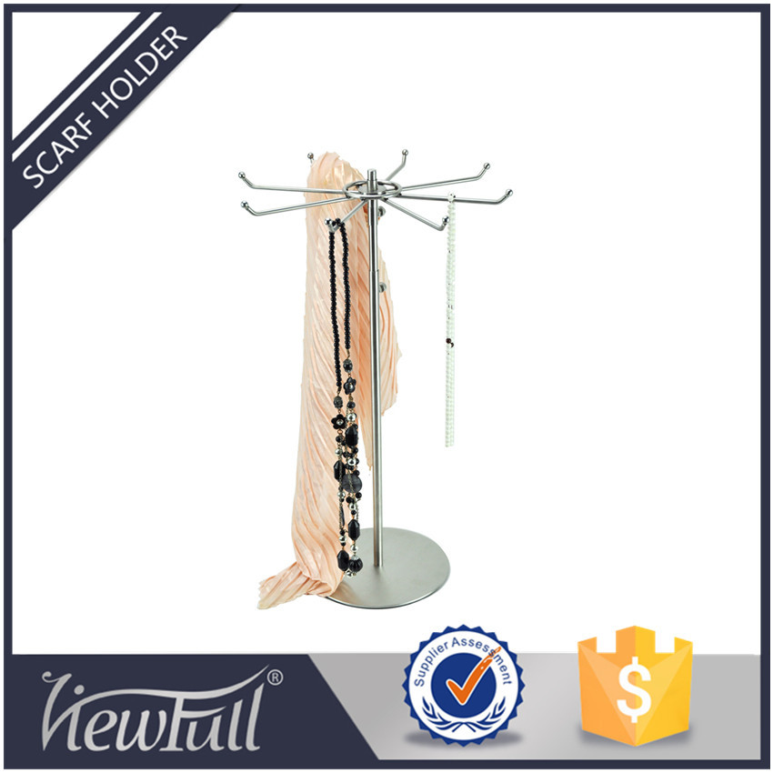 Stainless steel scarf and hat display stand rack