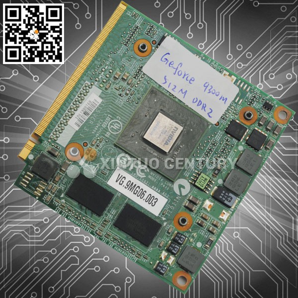 Wholesale retail GeForce 9300M VG.9MG06.003 DDR2 512MB MXM II GRAPHIC CARD laptop parts vga card in alibaba