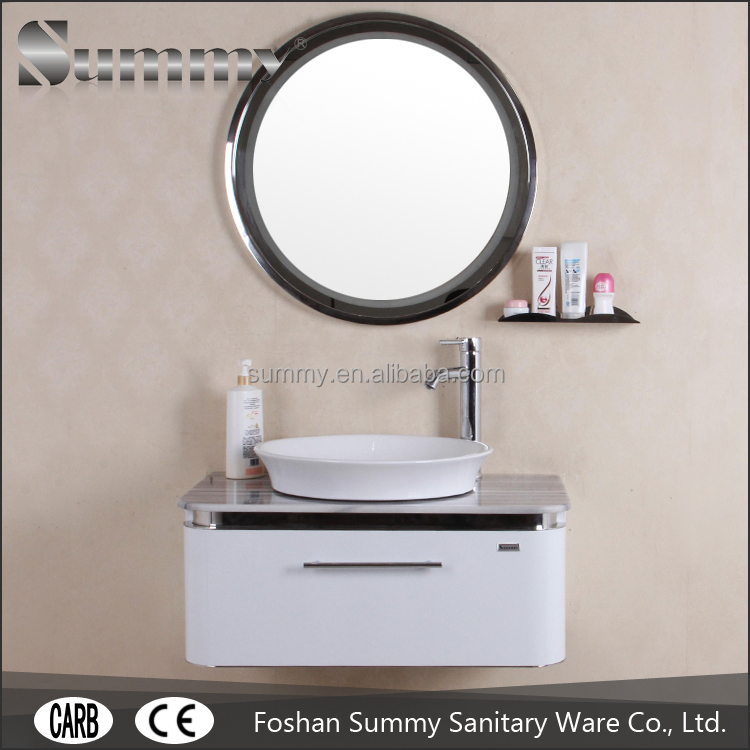 304 Stainless Steel wall mounted dressing table with 5 Years warranty bathroom vanity