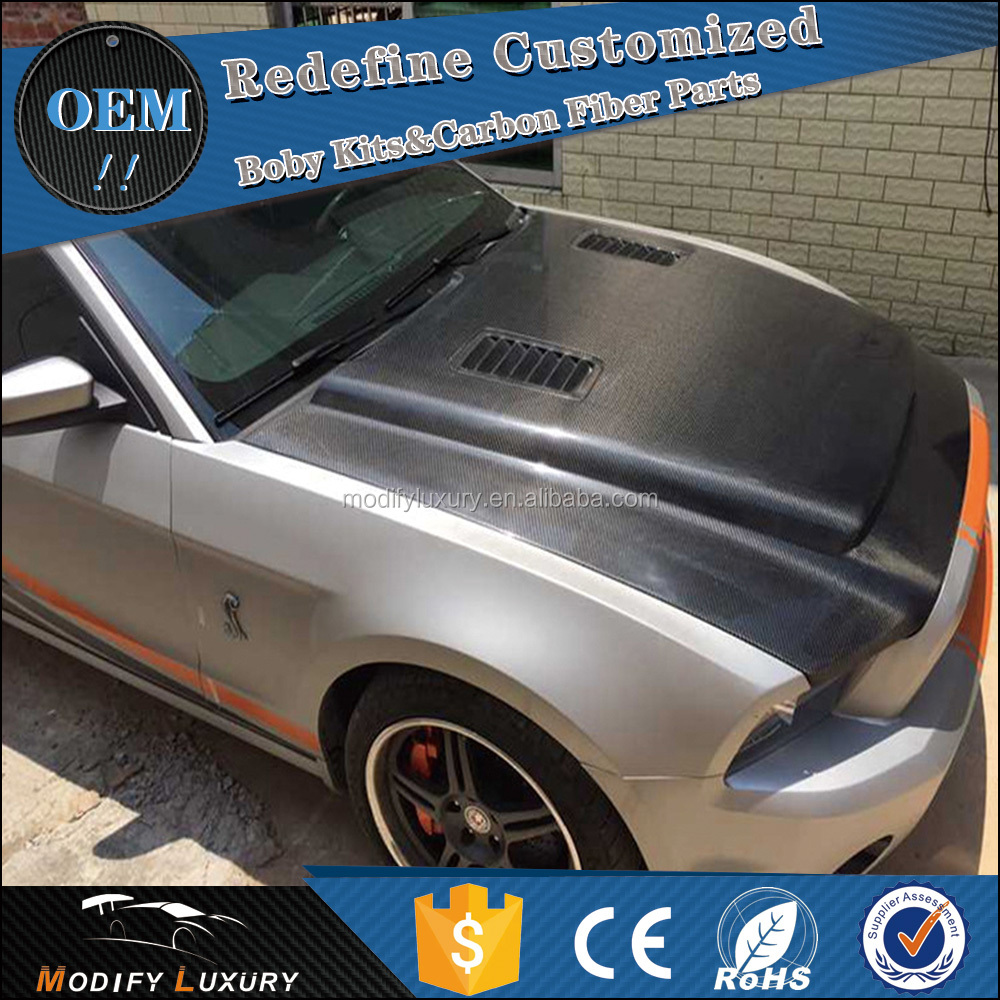 Hot sales Carbon GT500 Engine Hood for Ford Mustang 13~14