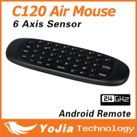 Original Rechargeable Wireless GYRO Air Fly Mouse and Keyboard Combo 2.4GHz G Mouse II C120 Air Mouse