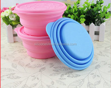 hot! kitchen products lunch box silicone collapsible bowl with lid