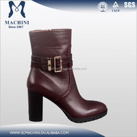Chengdu Machini factory produce spike sole leather shoes women boots heel
