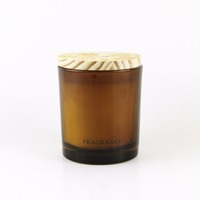 High End Amber Glass Candle Jars