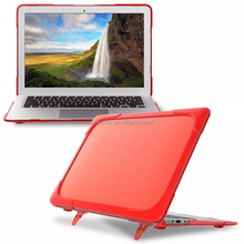 2017 Hybrid TPU+PC Protective hard Cover Case Holder Stand case for Apple Macbook Air
