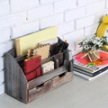 Best selling FSC pine wood handmade wash white distressed wooden organizer box