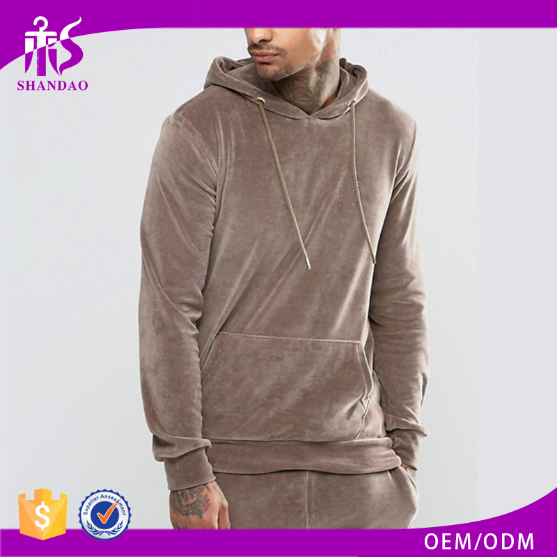 Guangzhou Shandao Autumn Casual Design Long Sleeve Pullover Velour No Pockets Hoodies