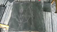 Mushroom Stone Black Slate Tiles & Slabs for Wall Cladding in China