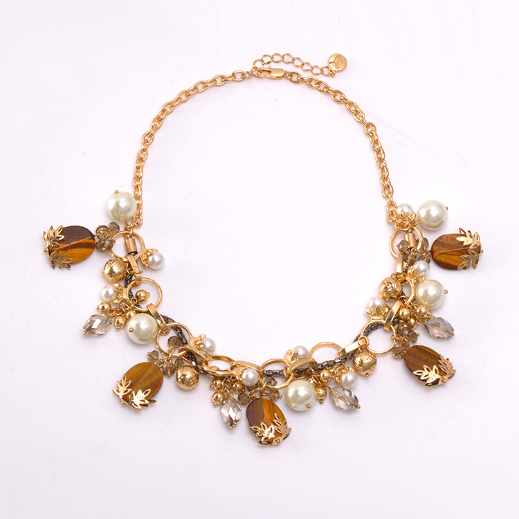Flexible Style Bib Gold Chain Women Necklace Accessories