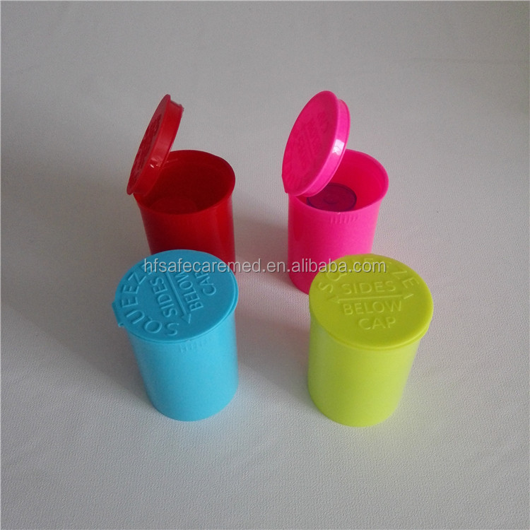 Multicolor Plastic Pop Top Bottle containers 6 Dram Vial, Medical, Herb, Pill, Box, Small Storage Containers