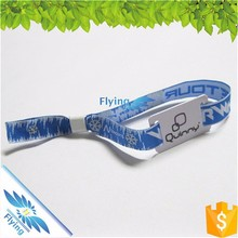 2017 Custom Fabric RFID Wristbands with disposable fastener for event