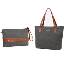 customized stylish cute womens canvas cloth tote bags with small bags