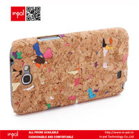 eco friendly funky design PC cork fabric cell phone back cover for samsung galaxy note 2