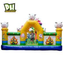 Chinese exporter customized size cute sheep park inflatable castle