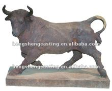 animal cast iron bull statues