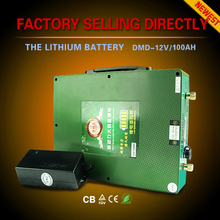 Ultraportable 7KG Only 12v 100ah deep cycle lithium ion battery for car home use solar system