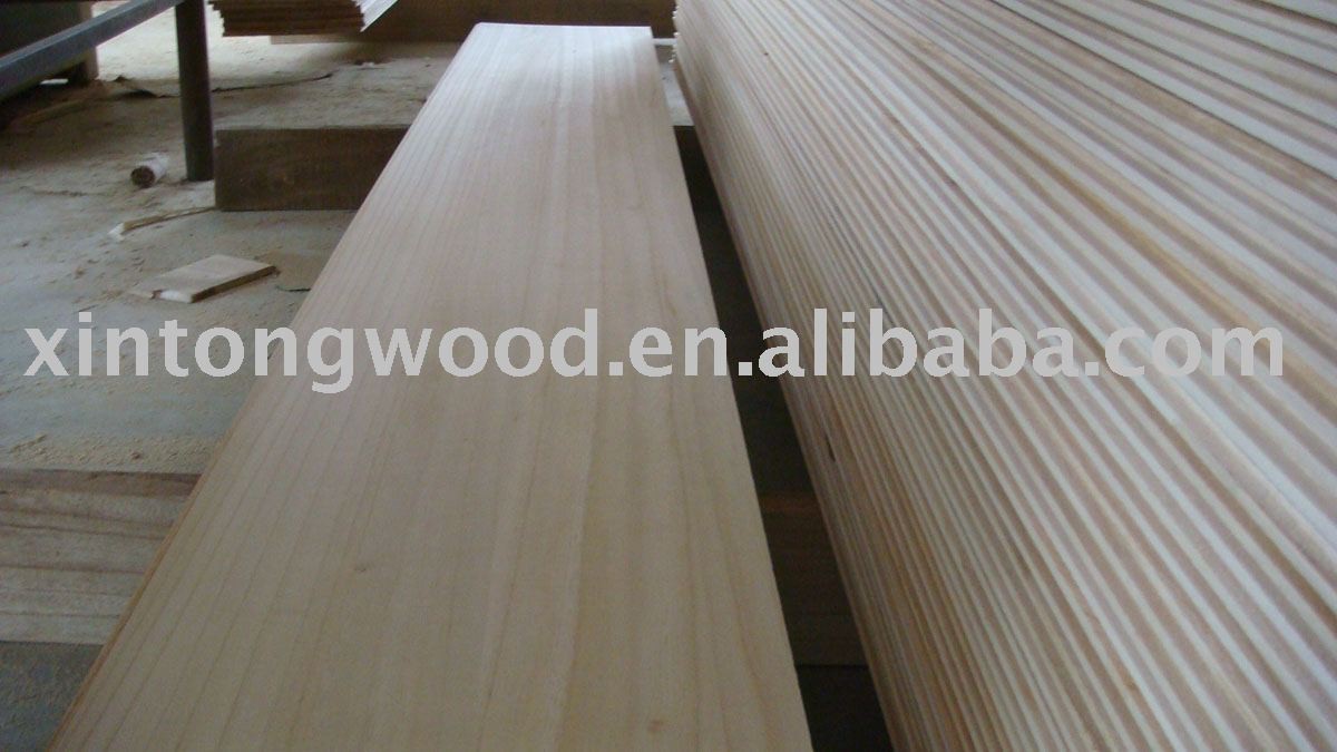 paulownia wood panels/wood retaining wall