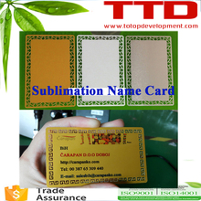 cheap custom sublimation blank metal business cards wholesale ,metal sublimation name card